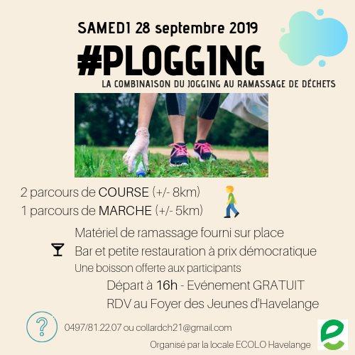 Un 1er plogging le samedi 28 septembre